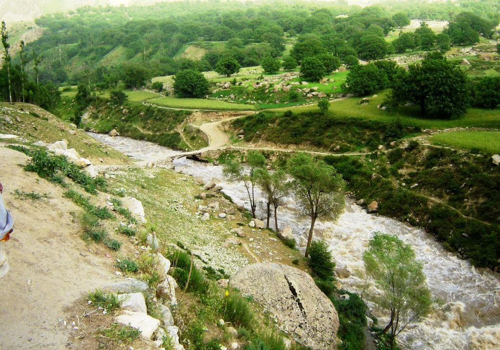 Мост у кишлака Джульбар, перейдя который вступили в последний бой Панфиловцы.