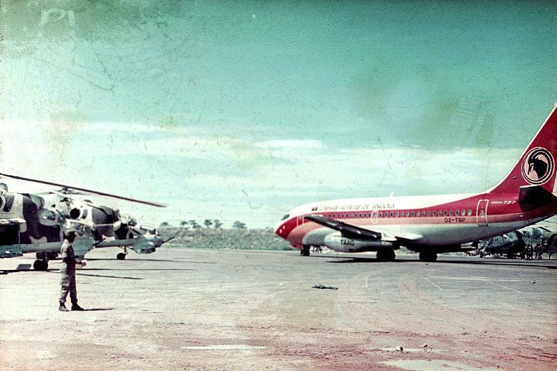Аэродром в Менонге. Провинция Кванду Кубангу