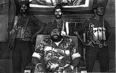 Савимби с телохранителями