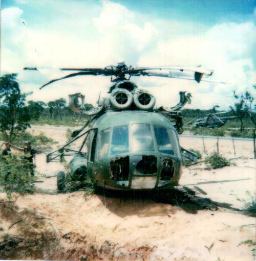 Сбитые вертолеты ВВС Анголы.